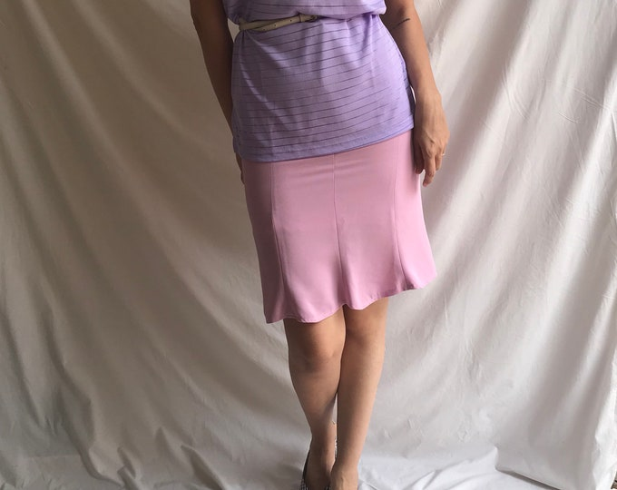 90s Vintage Flamingo Trumpet Skirt