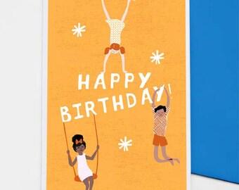 Playtime Birthday card