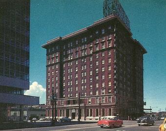 Vintage 1950s Postcard Utah Salt Lake City Hotel Samuel Newhouse Motel Inn Building Advertising Photochrome Era Postally Unused