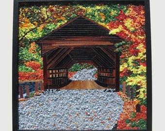 Covered Bridge Mosaic Wall Art