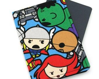 Passport Cover, Passport Holder, Passport Wallet, Passport Case, Travel Wallet, Travel Gift - Blue Marvel Avengers