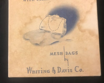 Whiting and Davis purse in original box