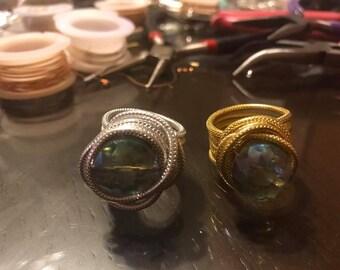Handmade aluminum rings