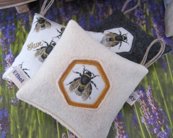 Save the Bees, Orgnic Lavender Drawer Sachets, Unique Home Decor, Home Fragrance