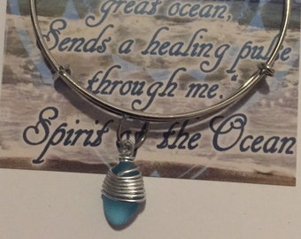 Spirit of the Ocean Sea Glass Bracelet