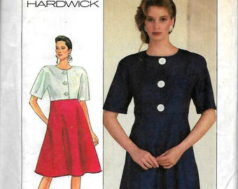 Simplicity 8420           Misses Dress with Flared Skirt     Size 18,20          Uncut