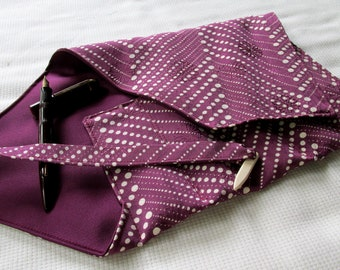 Kimono Silk Five-Pen Wrap, Pen Roll, Pen Case