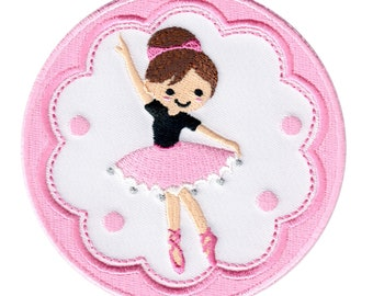 Ballerina Iron-On Patch Applique - Kids / Baby