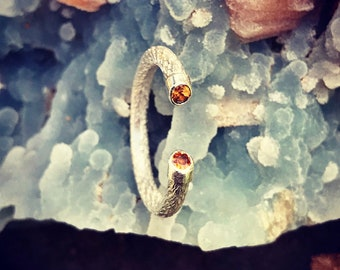 Citrine Ring. Silver 950