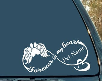 In Memory Of My Mom My Dad Cross Wings Car or Truck Window Decal Sticker -  Rad Dezigns