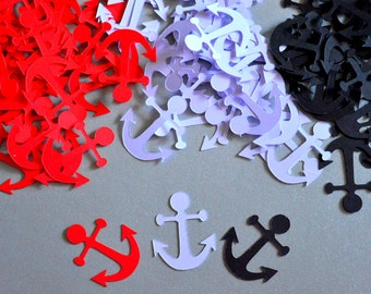 Nautical Theme Anchor Confetti Party Nautical Confetti Anchor Party Decorations Bridal Shower Confetti Baby Shower Nautical Birthday Party