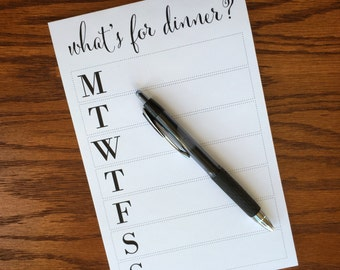 Meal planning notepad, meal planner pad, weekly meal planning notepad, weekly meal planner notepad, what's for dinner
