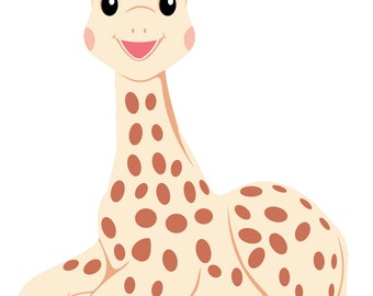 Sophie the Giraffe - svg, pdf, png, dxf files