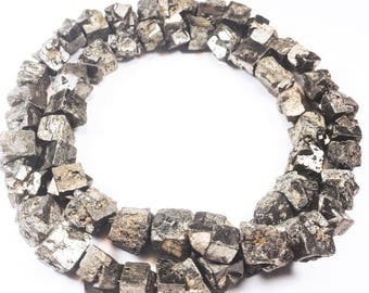 Very long strand of Raw Pyrite Nugget Beads