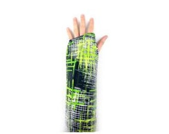 Fashionable Arm Cast Cover in Green Hatchet for Short Arm Cast