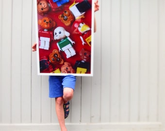 """Poster """"FABULAND"""" for children's rooms, posters for Legofan's, posters for girls and boys, Babyshower"""