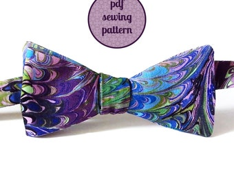 sewing pattern - freestyle bow tie in two styles (PDF for immediate download)