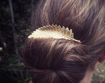 Large Fern Leaf Bobby Pin Gold Fern Leaf Hair Pin Hair Accesories