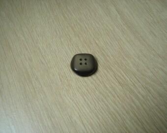 brown beige round button