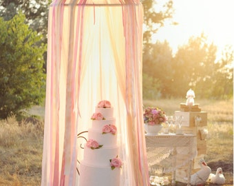 Amazing tulle canopy for wedding or baby bed canopy