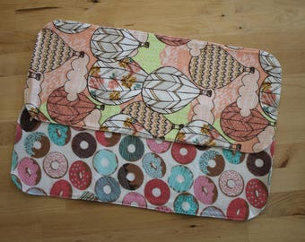 Large Burp Cloths - Donuts & Balloons