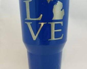 LOVE Michigan tumbler