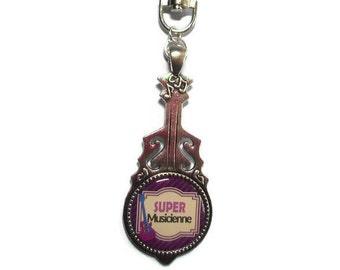 "Door keys/jewelry bag/musician / ""Great musician"" /les wonders faby/baptism/thanks/Christmas"