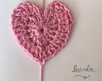 The BELINDA heart gift tag or ornament