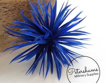 Goose Biot Feather Pom Hat Mount for Millinery, Fascinators & Hats - Royal Blue