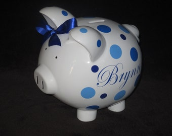 Piggy Q's - Personalized Piggy Bank