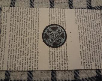 Drawing: Metallic ink pattern on printed page
