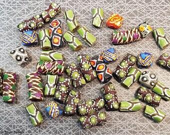 Mixed lot Krobo glass beads