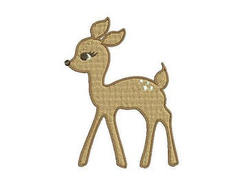 Baby Deer Embroidery Design, Bambi Embroidery Design, 4x4 Hoop MULTIPLE FORMATS Download