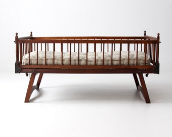 Victorian children's bed, antique folding crib