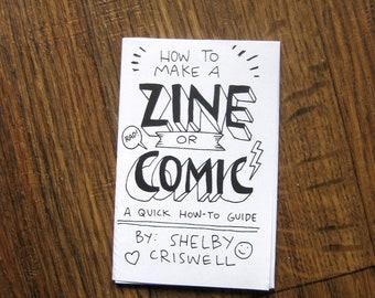 How To Make A Zine Or Comic Minicomic