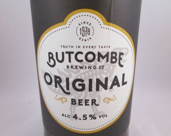 Beer Bottle Candle, Butcombe Beer Candle, Soy Wax Candle, Container Candle, Butcombe Original, Bitter Candle, Recycled Bottle, Quirky candle