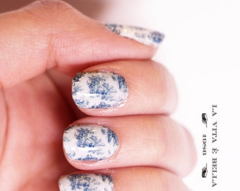 Nail Decals: Toile De Jouy Water Nail Decals Summer Sale!!!!!!