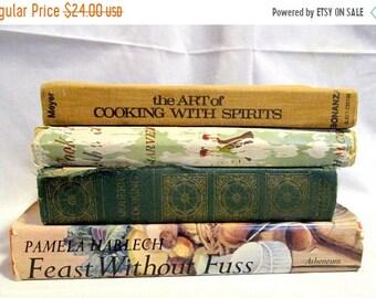 SALE Four Vintage Cookbooks