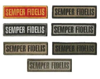 "BuckUp Tactical Morale Patch Hook Semper Fidelis Morale Patches 3.75x1"" Sized"