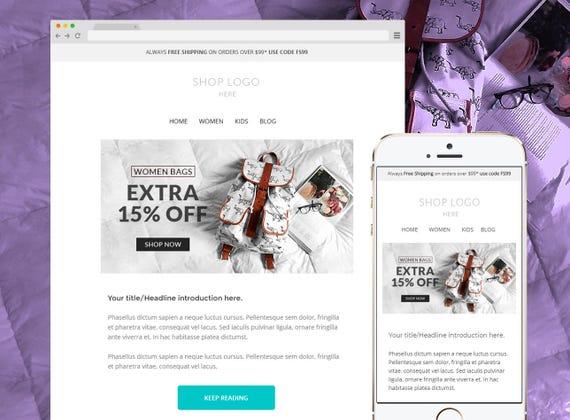 Mailchimp Newsletter Template Responsive Enhancement Email Template - Mailchimp email templates