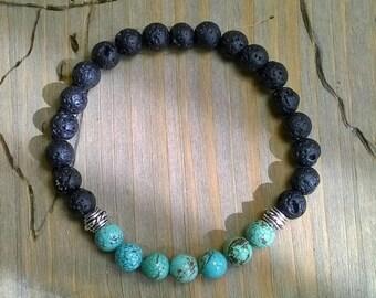 Men's bracelet lava turquoise