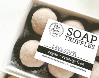 Soap Truffles | Guest Soap | Trial Size Soaps | Mini Soaps Sampler | Travel Size Soap | Bulk Natural Soap | Minimalist Soap | Palm Free Soap