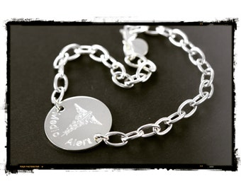 Medical Alert Bracelet, Medical ID Bracelet, Custom Engraved Medical Bracelet, 925 Sterling Silver
