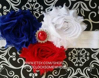 Customizable American Headband, Red White And Blue Headband, 4th Of July Headband, Fourth Of July Headband, 4th Headband, America Headband