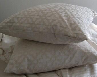 Set of 2 Euro Pillow Shams, Standard Shams, King Size Pillow Cases, Bed Pillows, Pillow Sham Covers, Shams