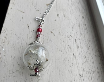 Real dandelion seed necklace