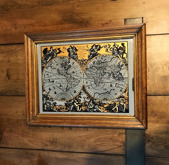 Vintage mappe monde old world map mirror old world map bar gumiabroncs Image collections