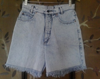 80s Palmettos stone washed high waist shorts