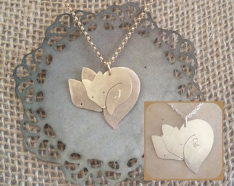 More Options...Mommy Necklace, Push Present, New Mom, Fox Necklace for Baby Boy or Baby Girl, Family