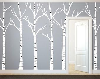 Birch Tree Decal | Etsy